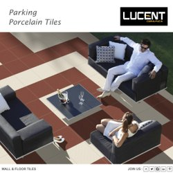 Porcelain Exterior Ivory Terracotta Parking Tiles for Flooring, Thickness: 8 - 10 mm