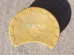PVC Moon Design Rubber Paver Mould