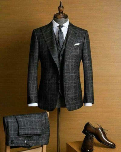 Full Sleeves Checks 3 Piece Suit