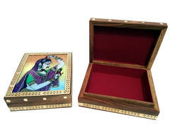 Wooden Gem Stone Box