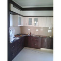 Wood Finish Modular Kitchen