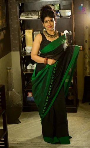 Khadi Saree, Length: 6.3 m with Blouse Piece