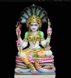 Jain Padmavati Marble Statue