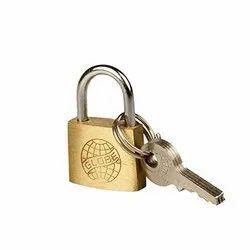 With Key Normal Globe Door Pad Lock, Finish