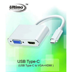 Type C To HDMI DVI VGA Adapter