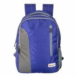 Blue Grey School Bag