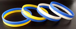 Dual Color Silicone Wristband