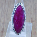 Ruby Gemstone 925 Sterling Solid Silver Ring Jewelry