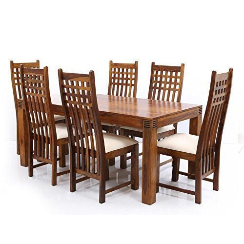 Brown Wood 6 Seater Dining Table Set Rs 35000 Set Trust Kart Id