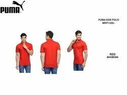Cotton Puma Esn Polo Red T Shirt, Size: S-XXL