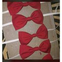 Cotton Red Neck Bow Tie