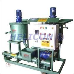 Electric Grout Pump with Twin Mixing Tank