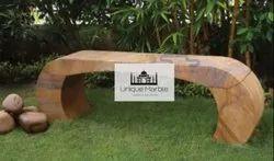 Modern Sandstone Garden Bench