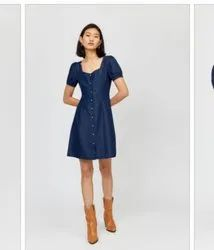 Women Denim Surplus Dress