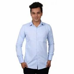 Long Sleeve Vida Loca Light Blue Color Cotton Designer Plain Shirt For Men