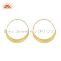 18K Gold Plated Silver Bali Hoop Earrings Jewelry