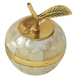 Brass Apple With Shell Work