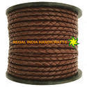 Dark Brown Nappa Braided Leather Cord