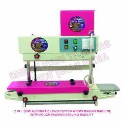 Semi Automatic Long Cotton Wicks Making Machine