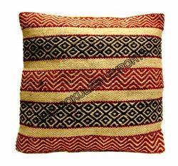 Maroon Geometical Woolen Kilim Cushion Covers