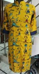 Straight Formal wear Ladies Cotton and rayon Kurti
