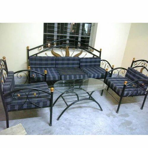 Iron 5 Seater Sofa Set At Rs 11500, Iron Sofa Set Designs