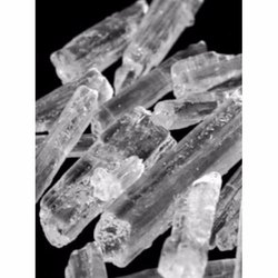 KRISHNA AND CLG Crystals Menthol Bold Crystal, Packaging Size: 25kg, Packaging Type: Drum Pack
