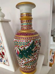 Multicolor Handicraft Marble Flower Pots