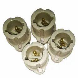 Ceramic Cable 2 Pin Porcelain Holder, Base Type: B22