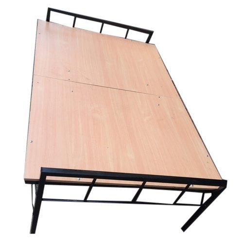 Ply and Metal Brown Folding- Plywood Bed, Size: 3x6 Ft, Rs ...