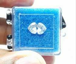 0.50ct Pair Heart Shape Diamonds EF VVS VS