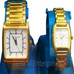 SONATA Golden Wrist Watch Set