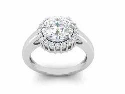 Solitaire Cubic Zircon Wedding Ring