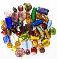 Eshoppee Multicolor Furnace Silver Foil Glass Beads Mix