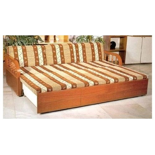 Brown Modern Wooden Sofa Bed Rs 17000