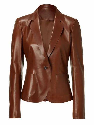 MARIYAM Leather Mens Leather Jacket Brown Slim Fit Biker Motorcycle Genuine Lambskin Coat