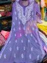 Hand Chikankari Embroidery Work Kurti
