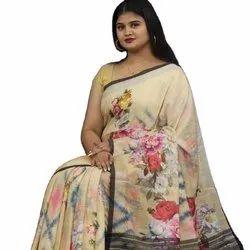 Designer Pure Jacquard Linen Sarees