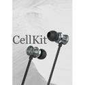 Black Cell Kit Wired Earphone