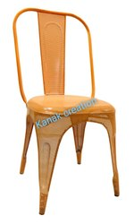 Tolix Chair in Matte Orange for Restaurant