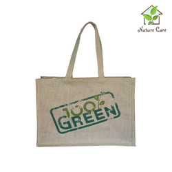 Jute Bag With Jute Self Handle