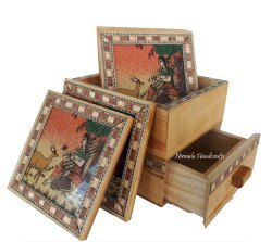 Wooden Chokor Card Tea Coaster