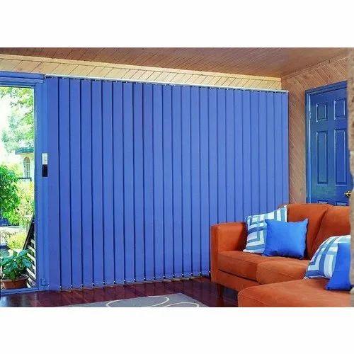 PVC Sky Blue Vertical Curtain Blind