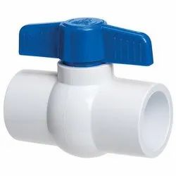 White, Blue ABS Ball Valve, Size: 1 To 4 Inch