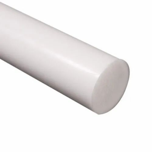 White Grade 66 10mm x 100mm extruded nylon round rod Natural