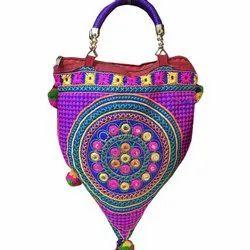 Mutlicolor Cotton Ladies Designer Hand Bag
