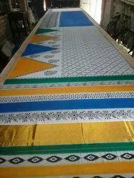 Hand Batik And Block Saree, Saree Width: 110 Cm