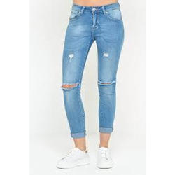 Ladies Ripped Jeans, Stretchable: Yes