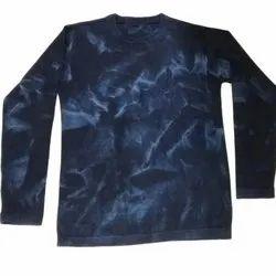 Cotton Mens Printed Indigo T Shirt