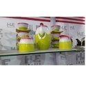 Ceramic Tri Color Tea Set